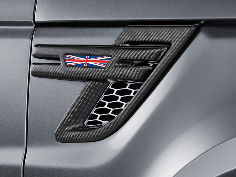 Carbon cover for side air intake in high-gloss finish, set - Image 1